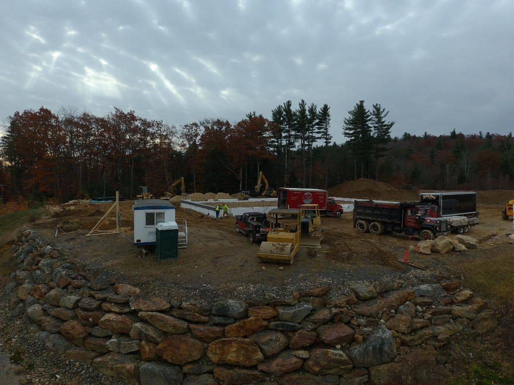 A construction site near Amherst New Hampshire