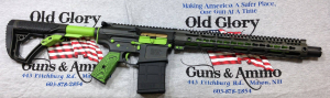 308 AR in Zombie Green and OD distressed.