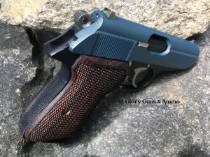 Walther PPK/S that we checkered the front and back straps. Blue Titanium slide and Socom Blue frame.