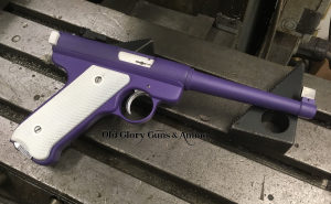 Ruger Mark 1, a little old school, with a little flair.