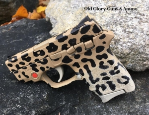 Just a little something for the critics, leopard print Cerakote.