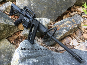 New Old Glory, Massachusetts legal OG-15. This rifle has a fixed magazine with 10 round capacity. The package includes a 10 round speed loader. Limited quantities available.