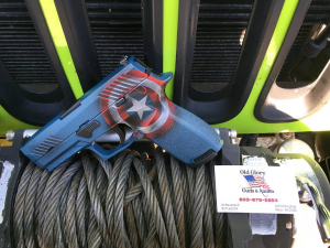 Captain America's Sig Sauer p320, even Cap is upgrading.